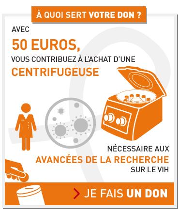 Avec 50€, vous contribuez à l'achat d'une centrifugeuse