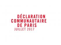 déclaration communautaire de paris juillet 2017