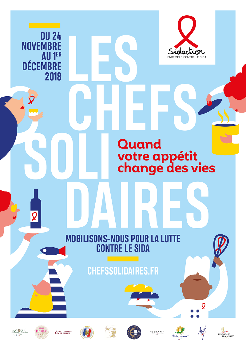 Affiche Chefs Solidaires 2018